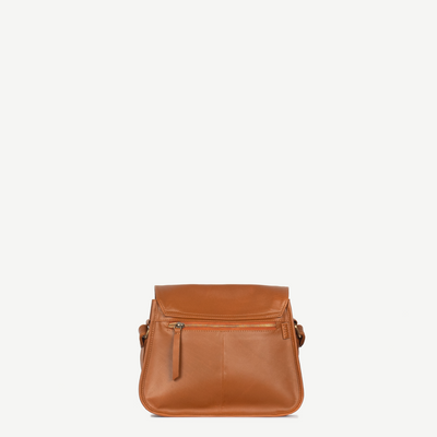 Myra Camel Leather Satchel