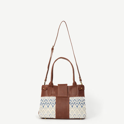 New Suneli Signature Print Leather Handbag