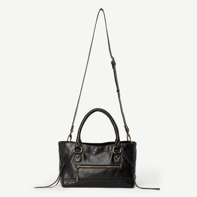 Pema Black Leather Handbag