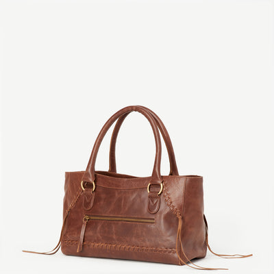 Pema Brown Leather Handbag