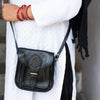 Mini Myra Black Leather Crossbody Bag