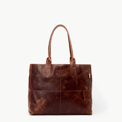 Heena Brown Leather Tote