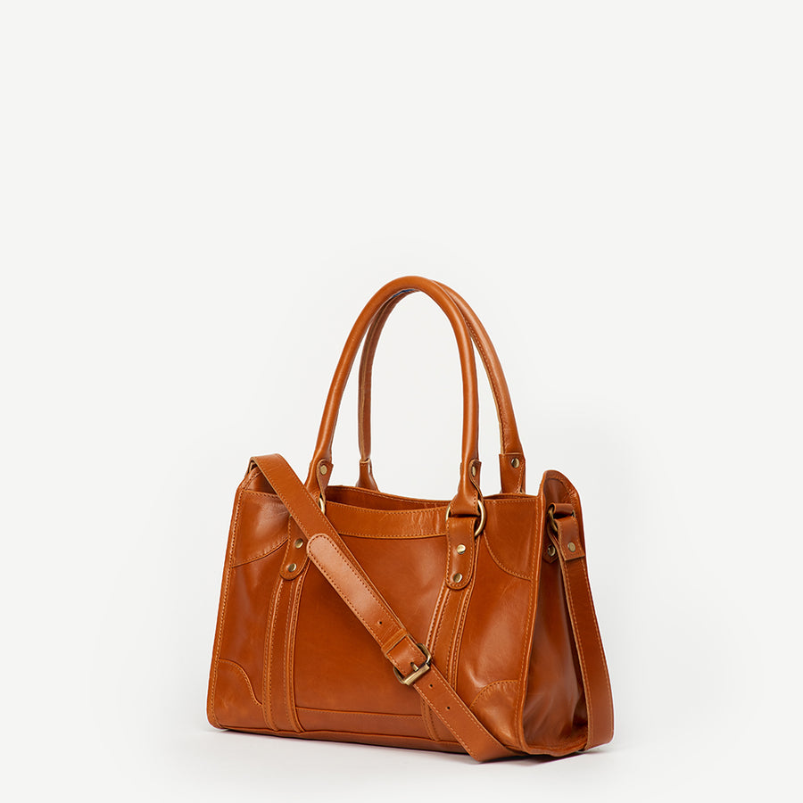 Sarita Camel Leather Handbag