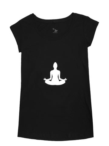 Sweatees Camden Women's Black Lotus Tee