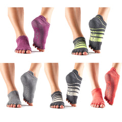 ToeSox - Without Toe Low Rise Yoga Socks
