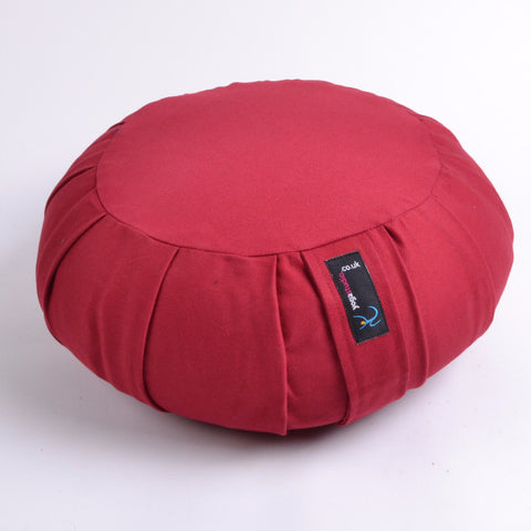 Yoga Studio Pleated Round Zafu Buckwheat Meditation Cushion - Yoga Studio - 3