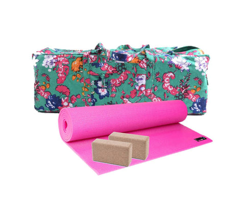 Yoga Studio Large Pink 6MM Mat Kit - Yoga Studio - 1