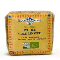 Flax Farm Organic Whole Gold Linseed 450g