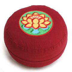 Lotus Design Embroidery Meditation Cushion