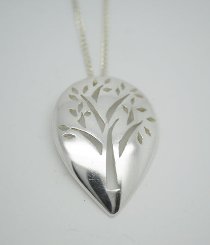 Yoga Jewellery By Sally Andrews Medium Silver Tree Of Life Pendant