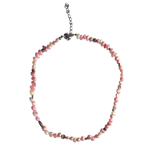 Parisian Pearl Necklace (Pink)