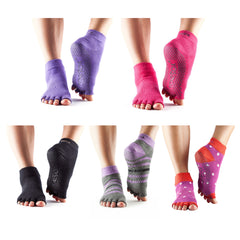 Toesox - Half Toe Ankle Yoga Socks