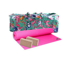 Yoga Studio Large Pink 4mm Mat Kit