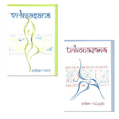 Kasana Design Yoga Pilates Greeting Cards
