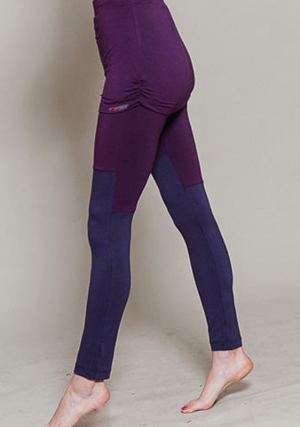 Yogamasti- Yoga Skirt Leggings Plum Purple - Yoga Studio