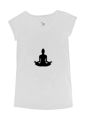 Sweatees Camden Women's White Lotus Tee