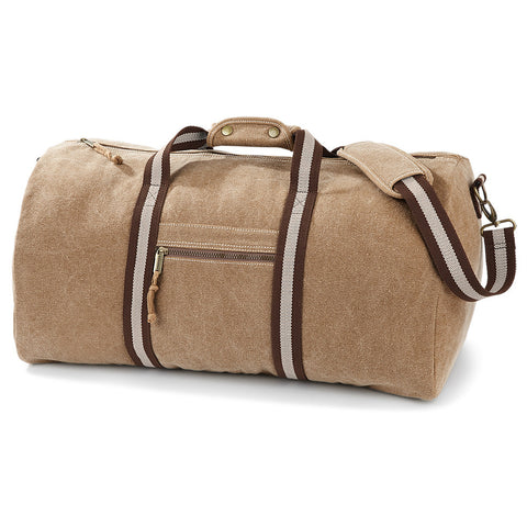Quadra Vintage Canvas Holdall - Yoga Studio - 2