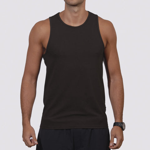 Carrot Banana Peach U9027 Mens Active Summer Tank Top - Yoga Studio - 1