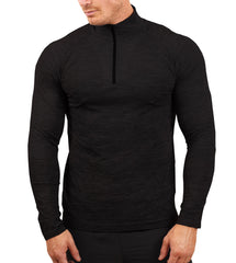 Ki5-A Mens Long Sleeve Top Levin Zip Thru