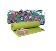 Yoga Studio Large Green 4mm Mat Kit