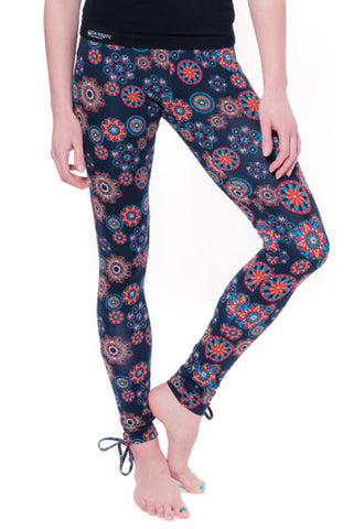 Yogamasti Women's Organic Black Mandala Leggings
