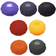 Yoga Studio Pleated Round Zafu Buckwheat Meditation Cushion - Lotus Leaf