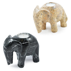 Elephant 6 Inch Tea Light Candle Holder