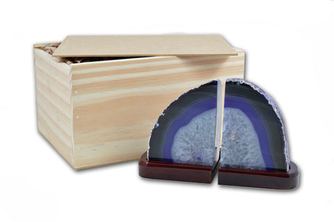 Pair of Agate Bookends in Presentation Box - Yoga Studio - 4