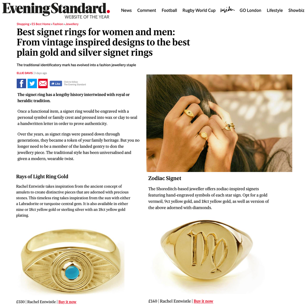 Interstellar Ring X Zodiac Signet X The Evening Standard