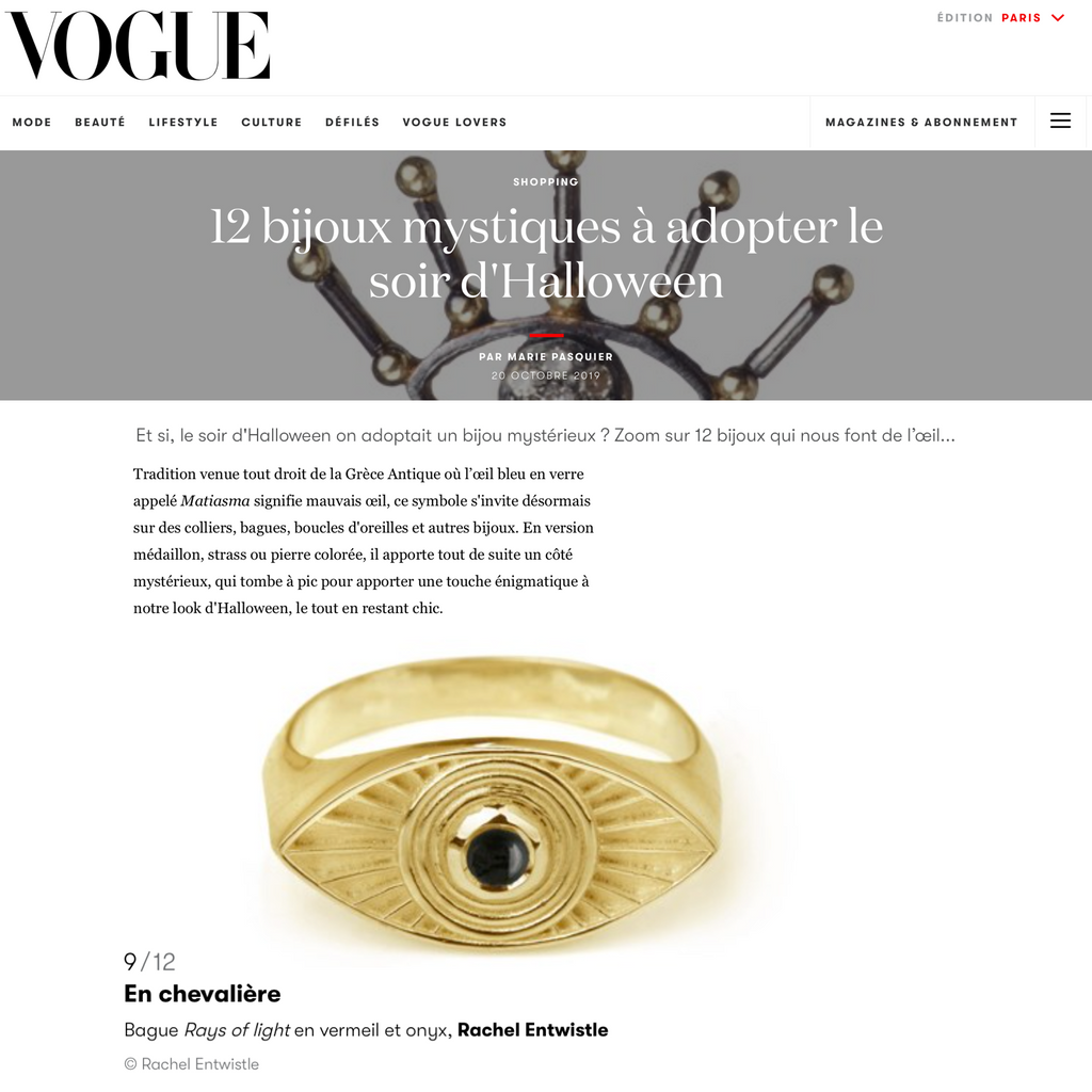 Rays of Light Ring X Vogue Paris