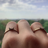 SALE - Moon Stacking Ring Bronze