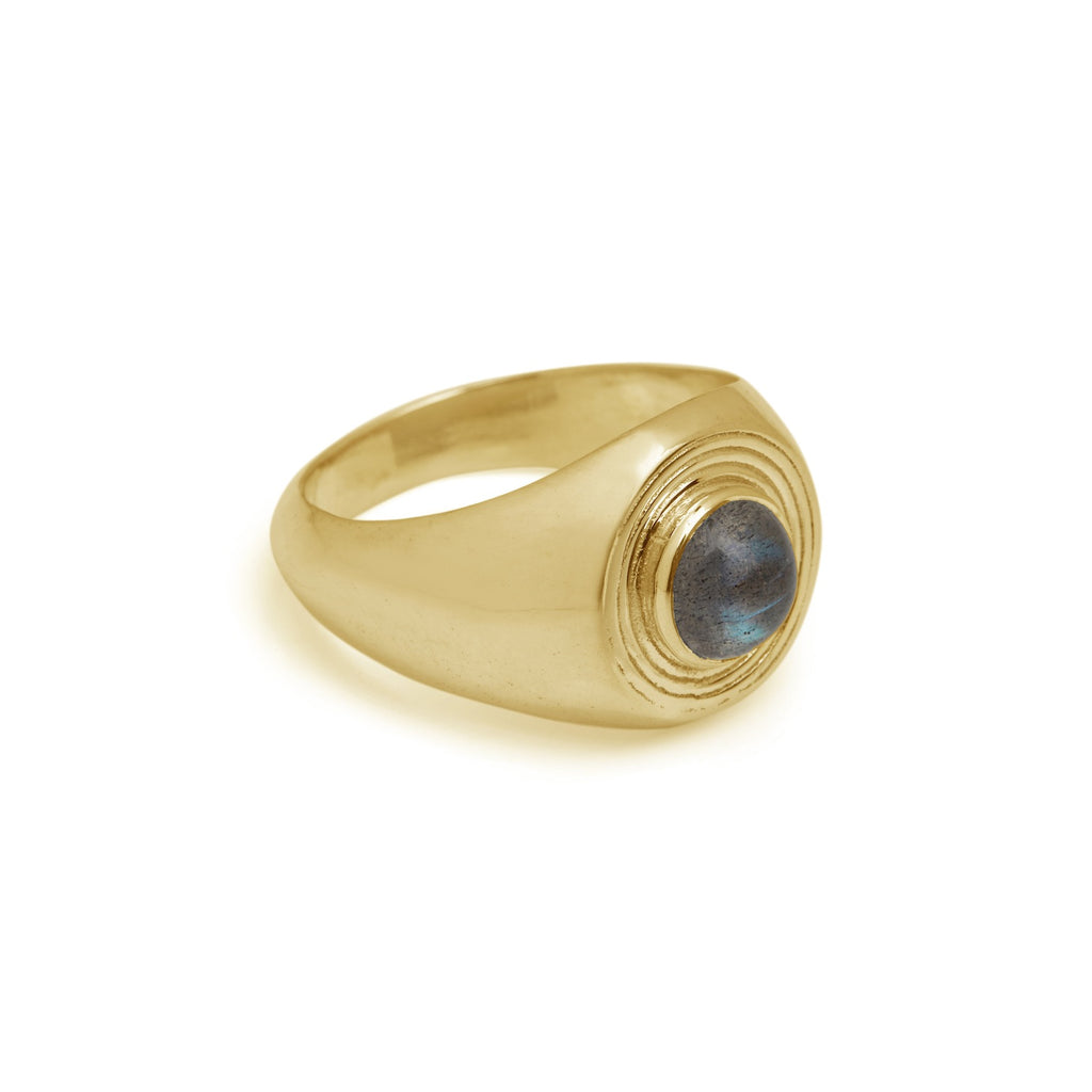 Astral Large Signet Ring Gold