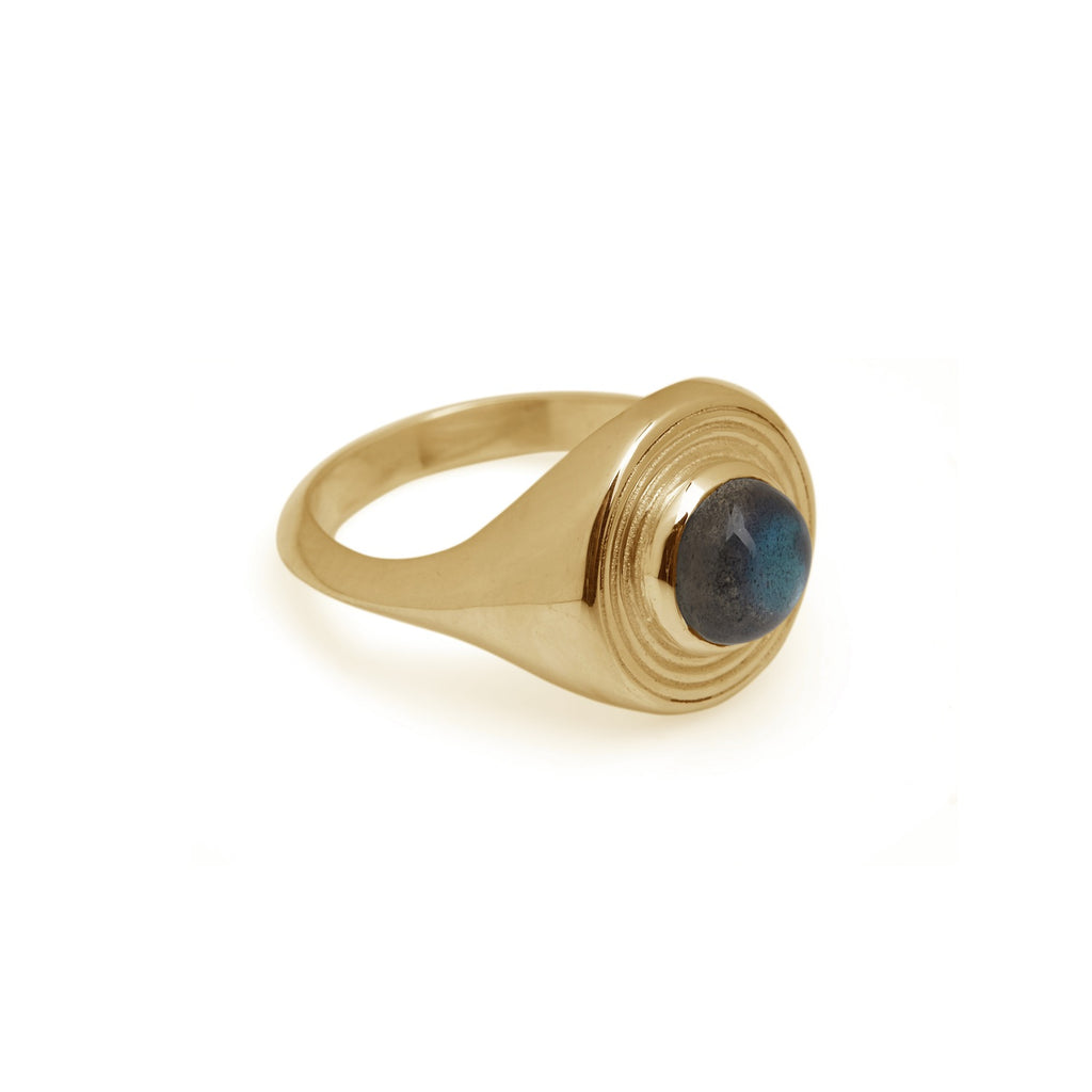 Astral Signet Ring Gold - Labradorite / Opal / Turquoise