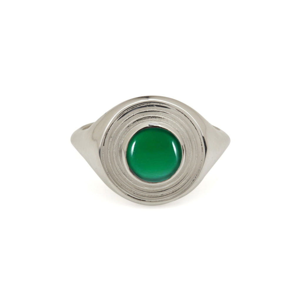 Astral Signet Ring - Green Onyx