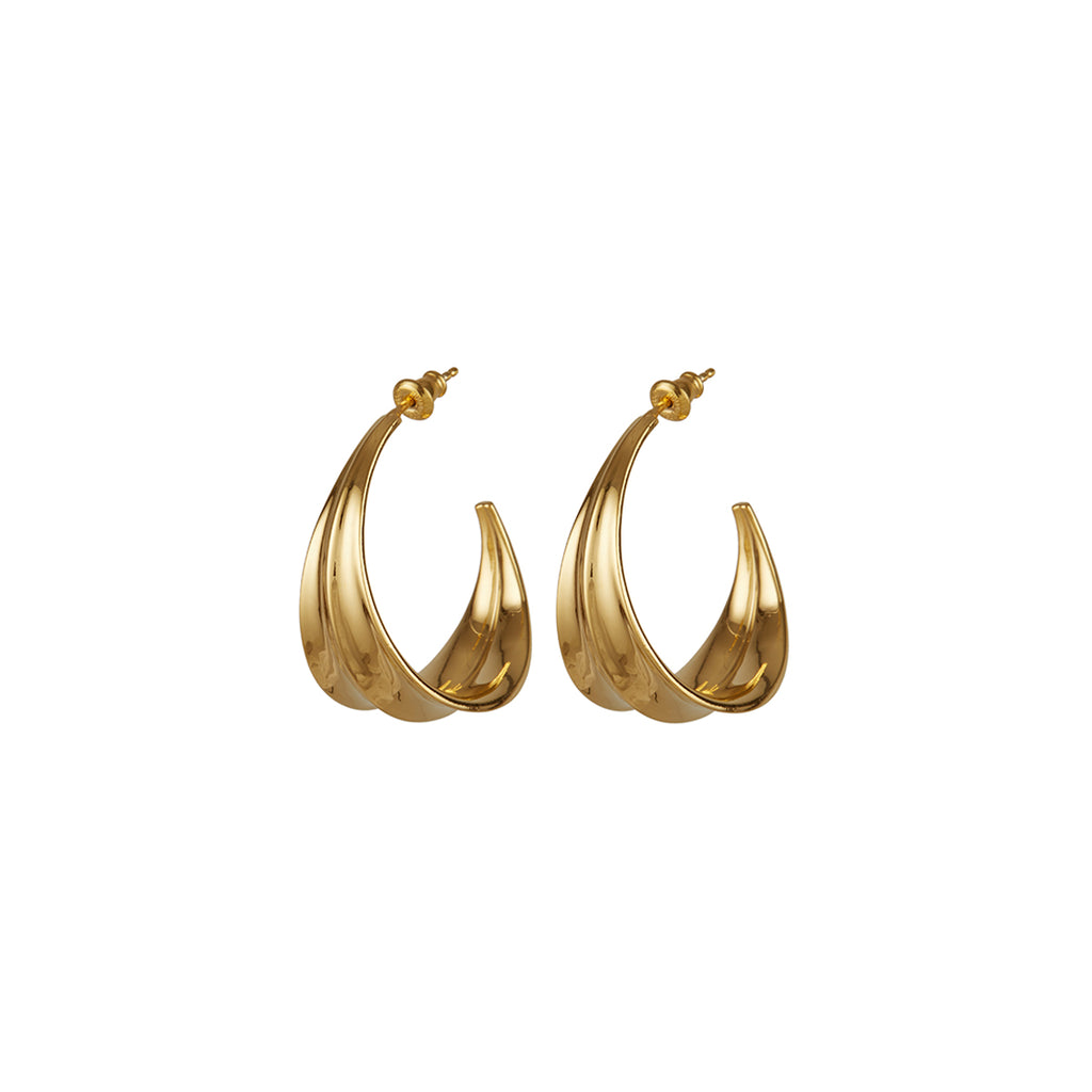 Athena Hoop Earrings Gold