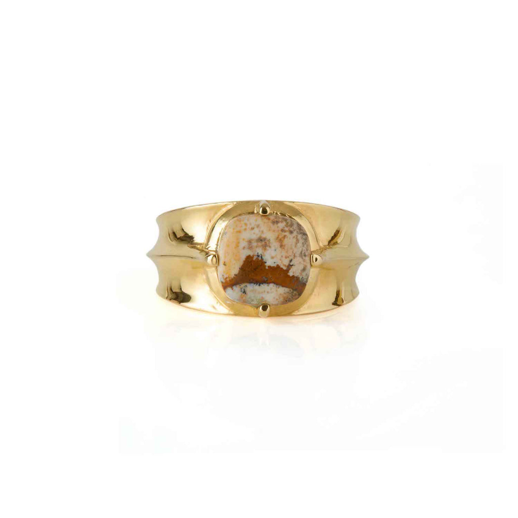 Athena Jasper Ring Gold