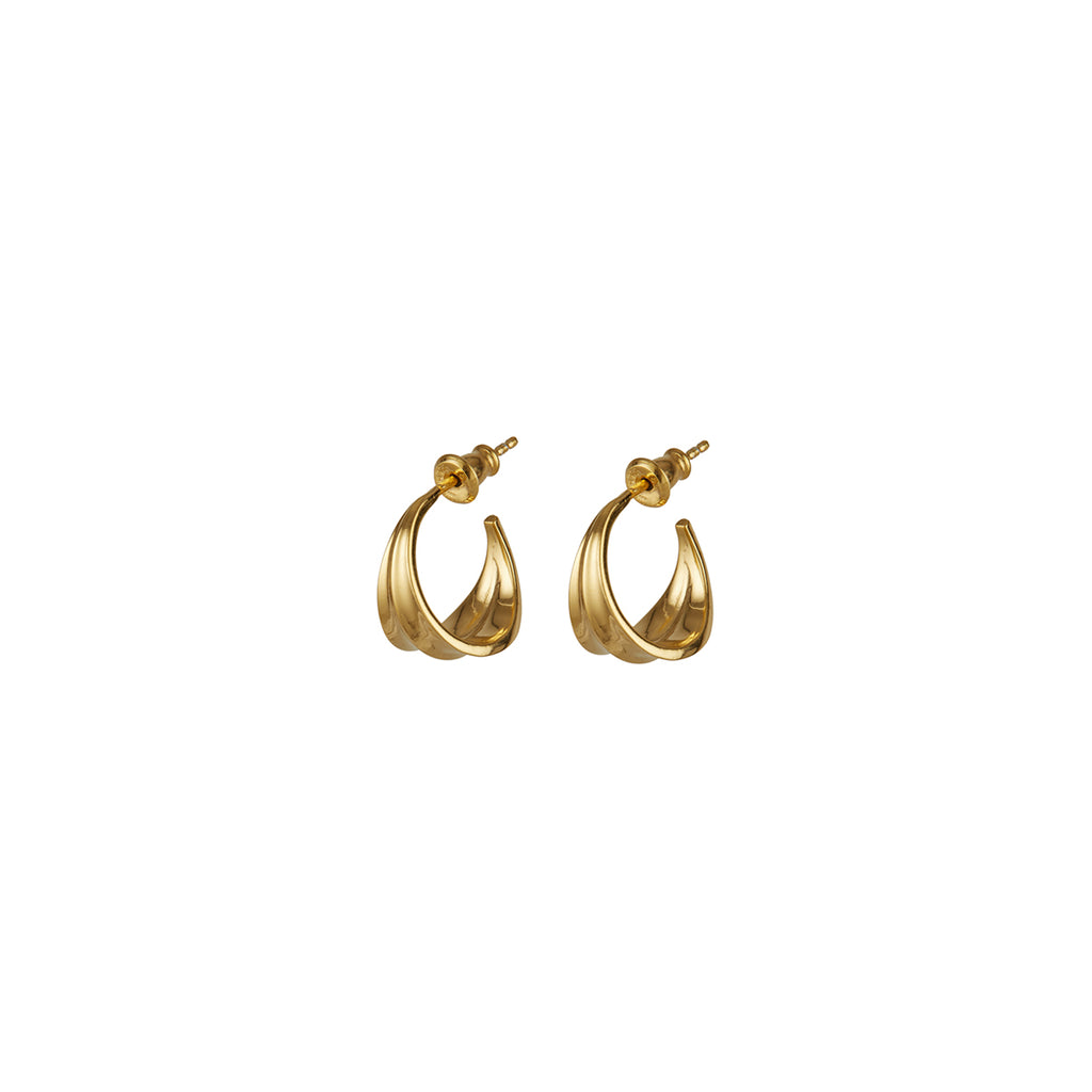Athena Mini Hoops Gold