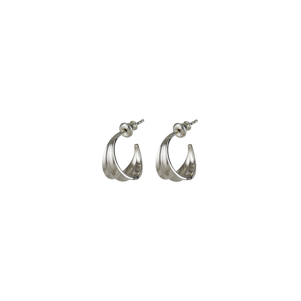 Athena Mini Hoops Silver