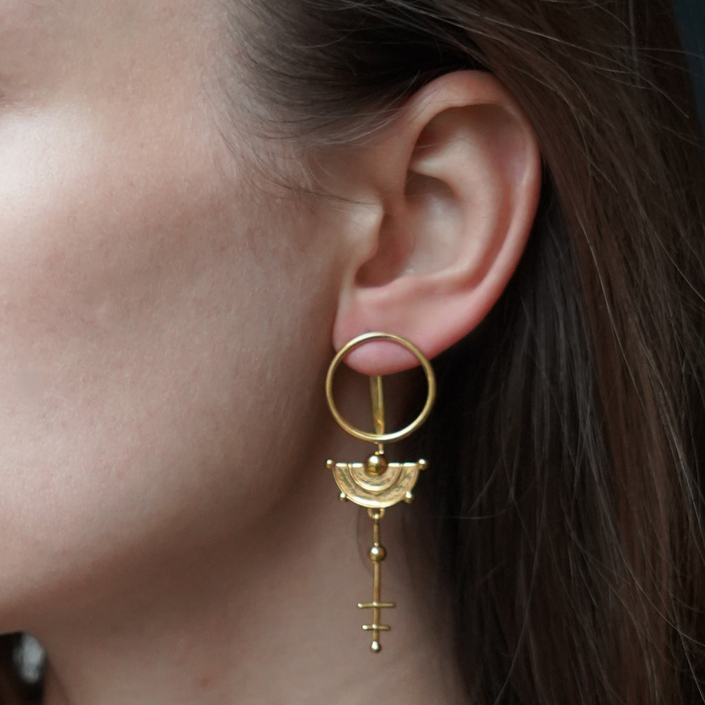 Celestial Ear Jacket Gold