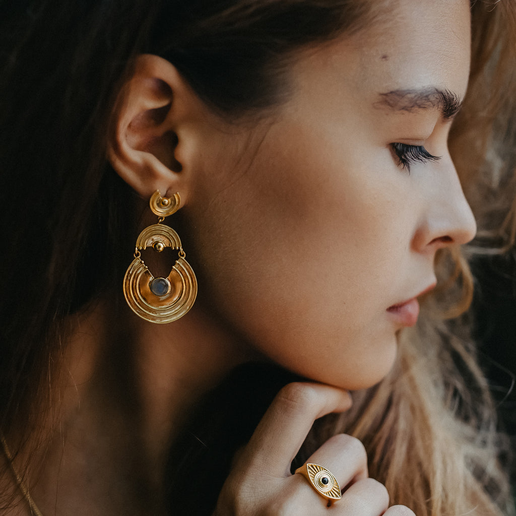 Interstellar Earrings Gold