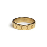 Moon Phases Band Ring Gold