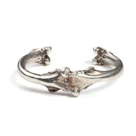 Large Bone Cuff Silver - MEN