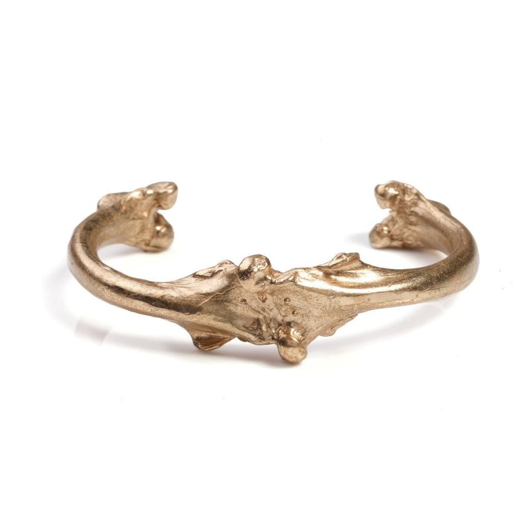 Large Bone Cuff Bronze