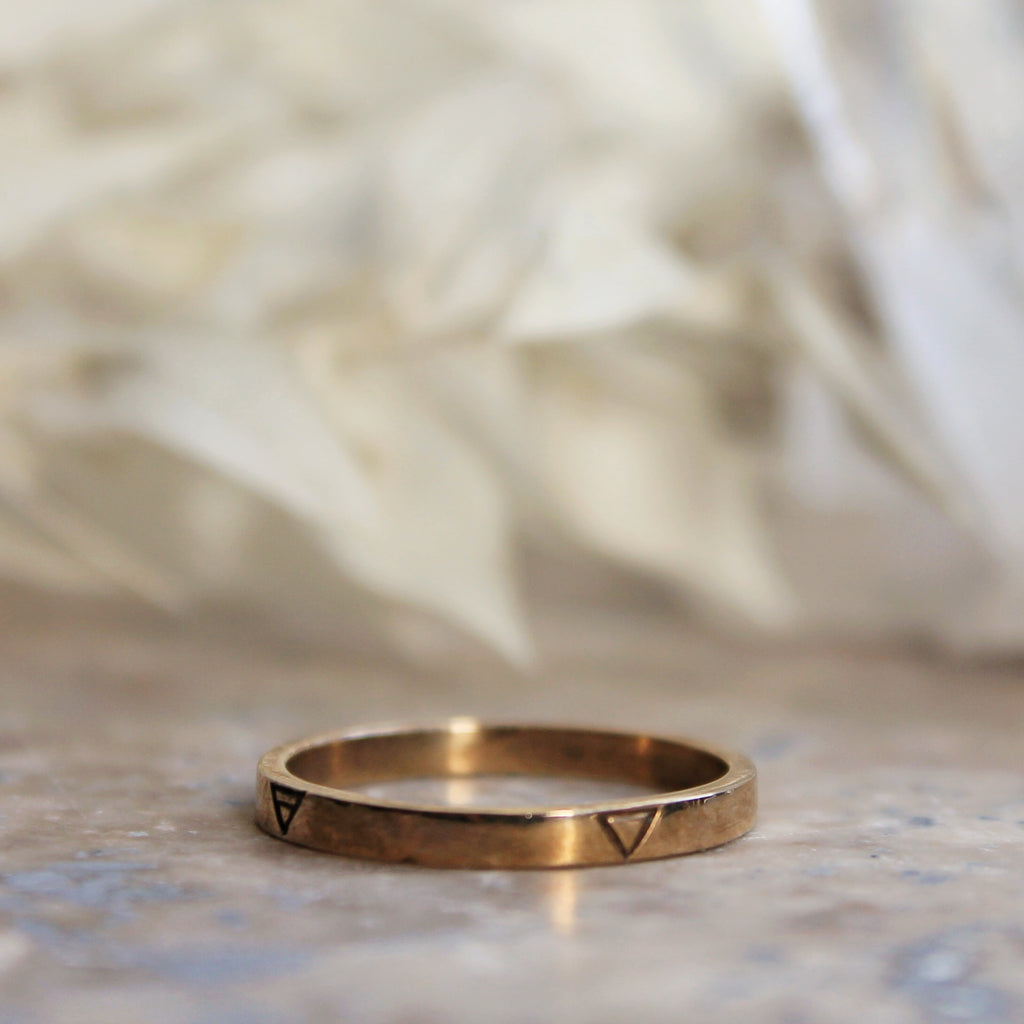 SALE - Four Elements Rings Bronze