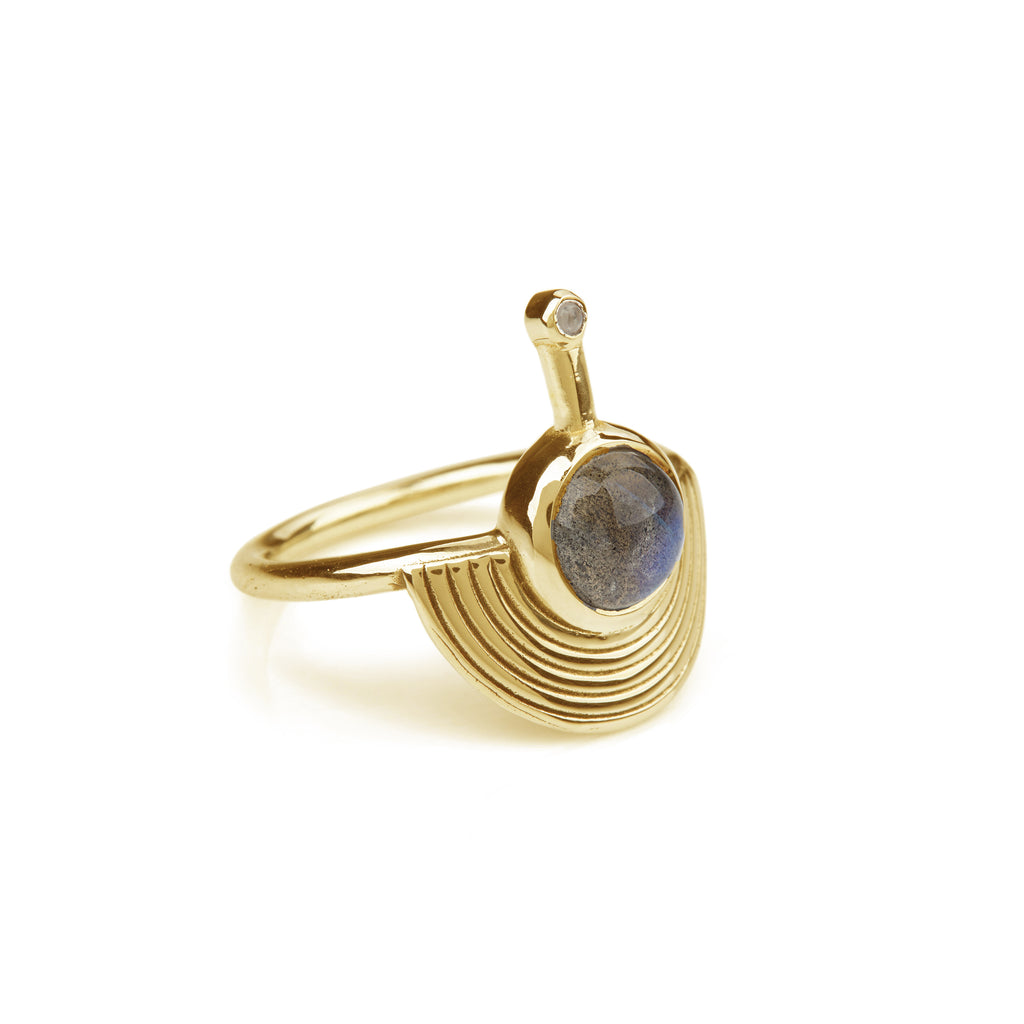 Interstellar Ring Gold - Labradorite