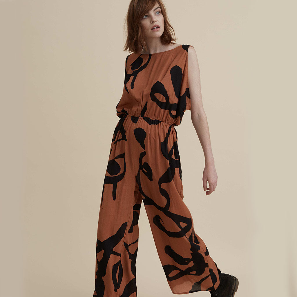 The Dreamer Jumpsuit - Burnt Orange