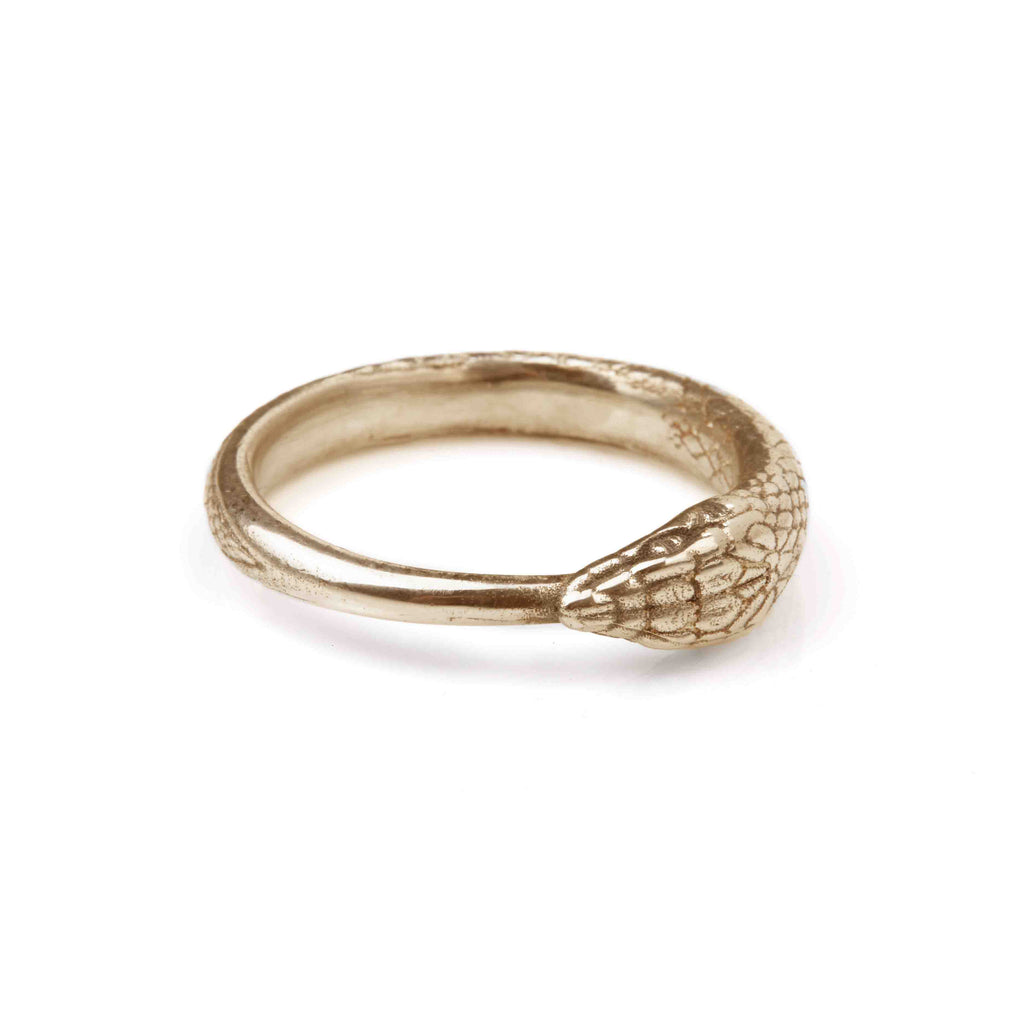 Ouroboros Snake Ring Gold Large