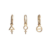 Tria Prima Hoop Piercings Gold