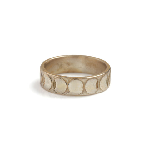 Moon Phases Band Ring Bronze