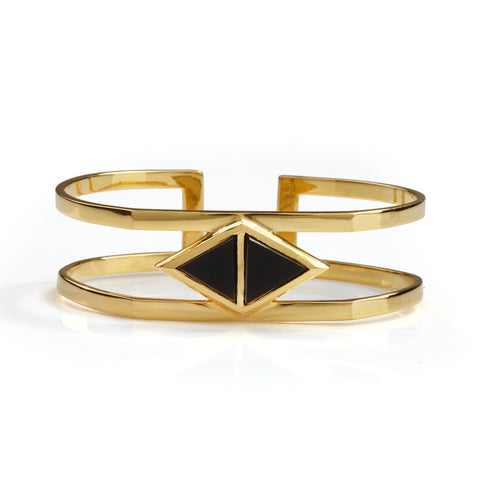 Octa Onyx Bangle Gold